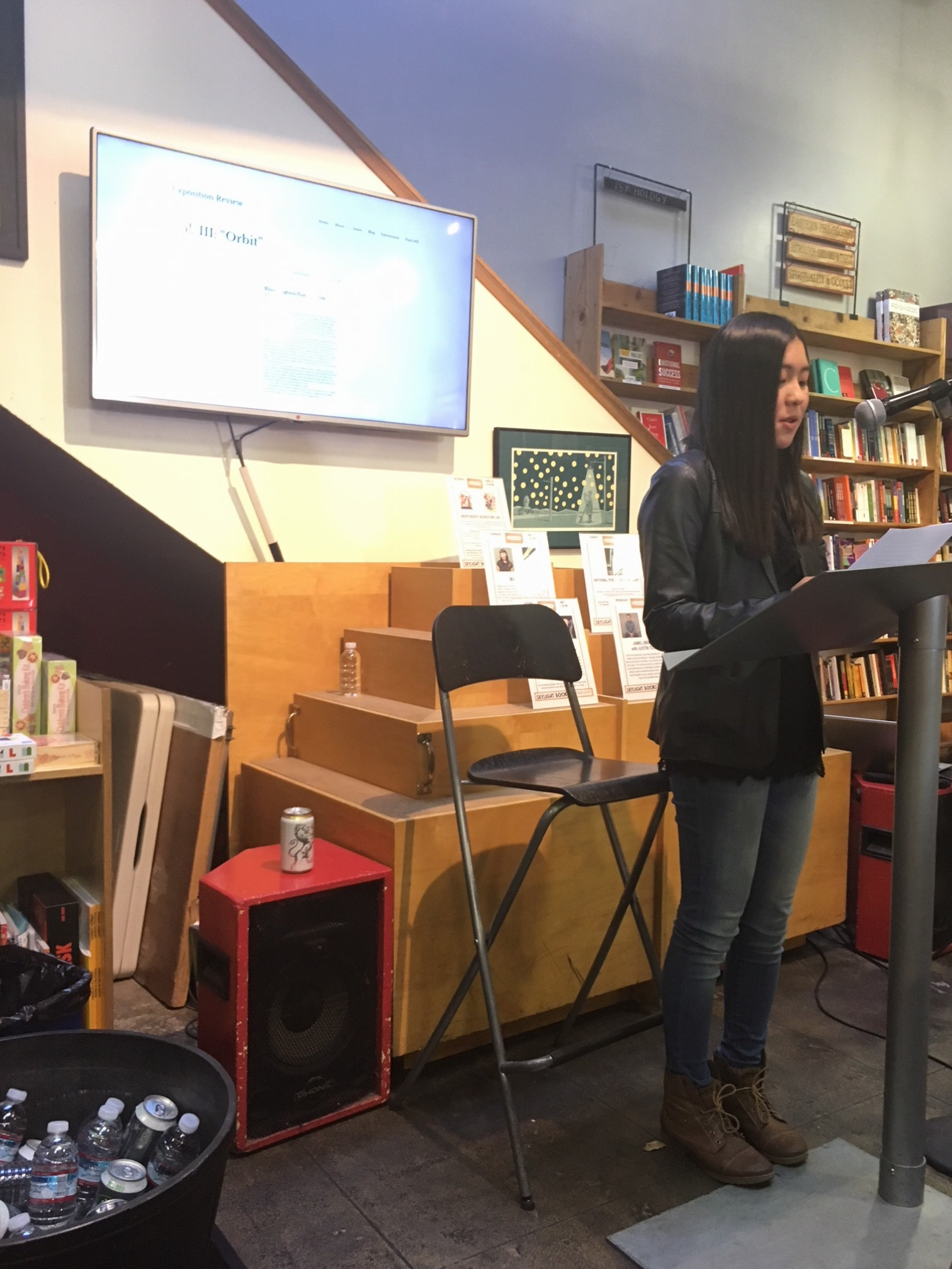 "Drew Shinozaki's reading of her fiction piece ""Numbers"""