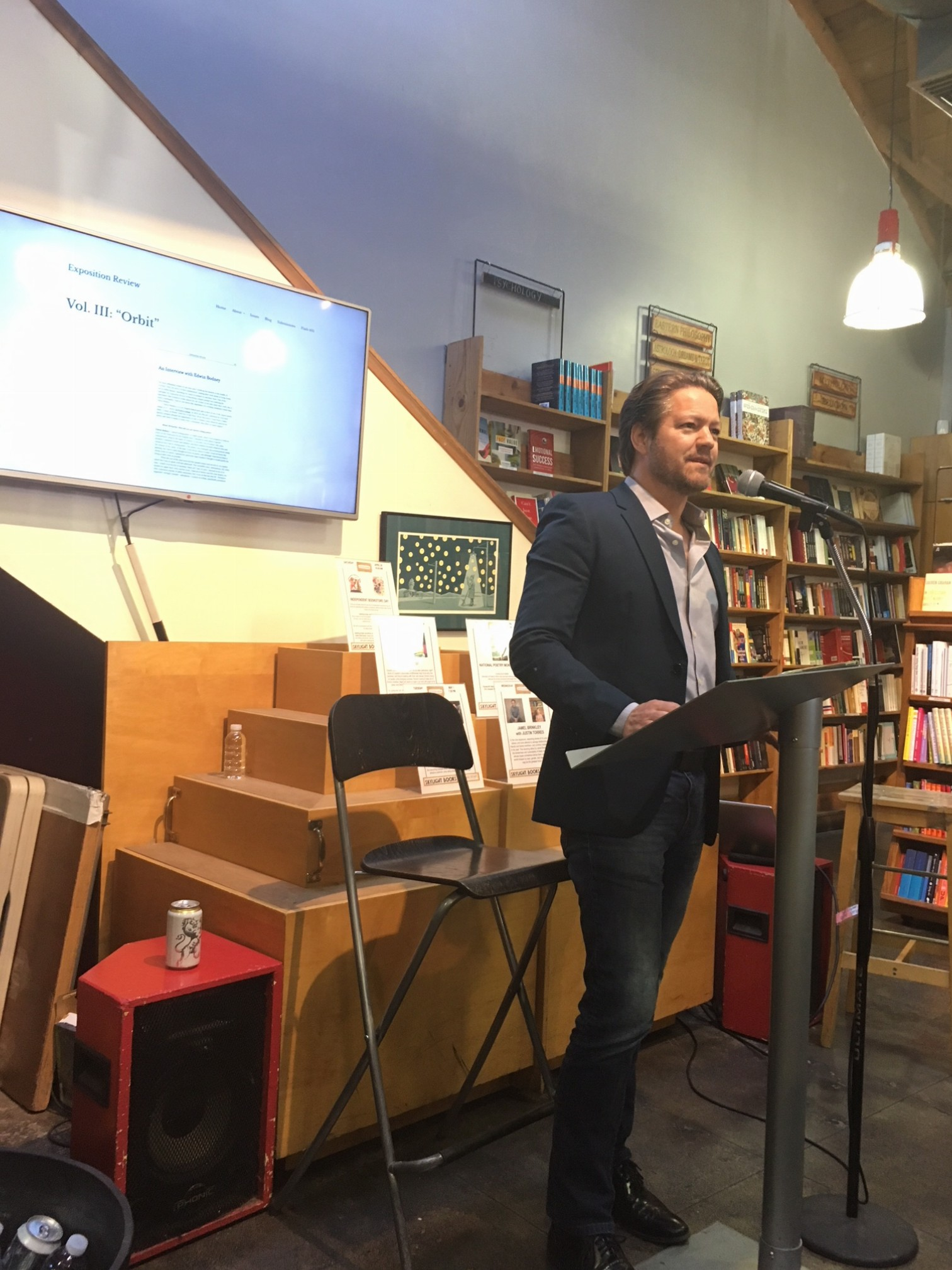 Robert Petkoff reading from Charles Leipart's Chez Rikers