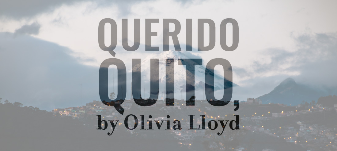 Flash 405, June 2020: International Travel - Querido Quito by Olivia Lloyd