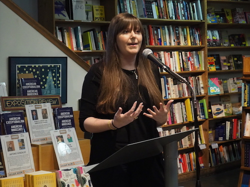 """Co-Editor-in-Chief Jessica June Rowe welcomed the crowd and introduced our """"Wonder"""" issue."""