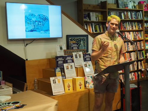 """Kyle Raymond Fitzpatrick reads from his fiction piece """"Bones""""."""
