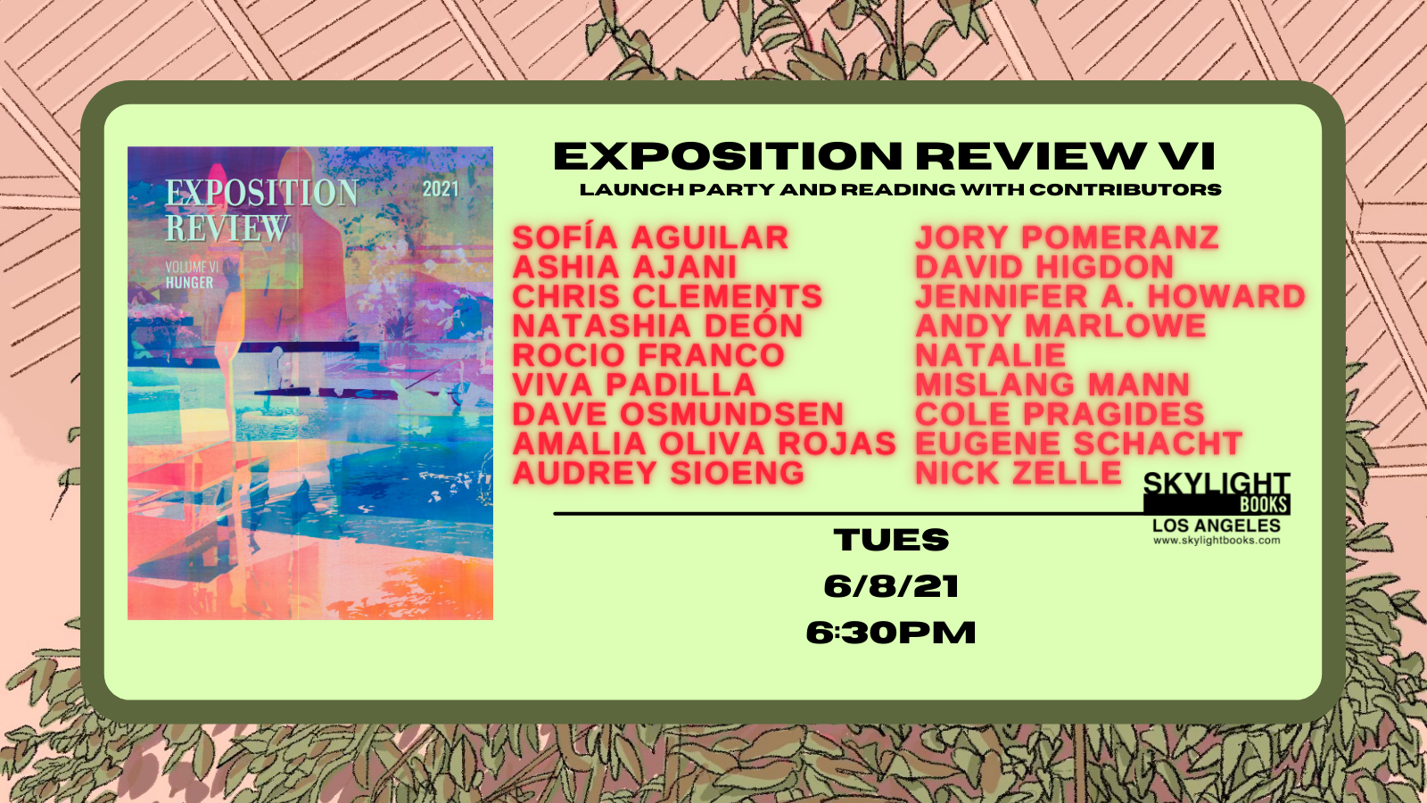 Skylight books hosted Exposition Review's live reading launch of our Hunger issue!