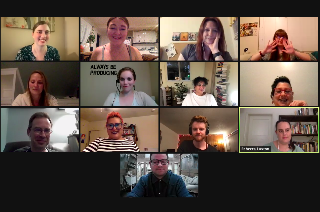 Afterwards, all of our editors and contributors joined together in a toast to the new issue!